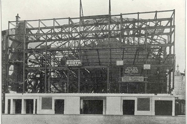 The Plaza steel work structure taking shape prior to completion and grand opening day on Friday October 7th 1932