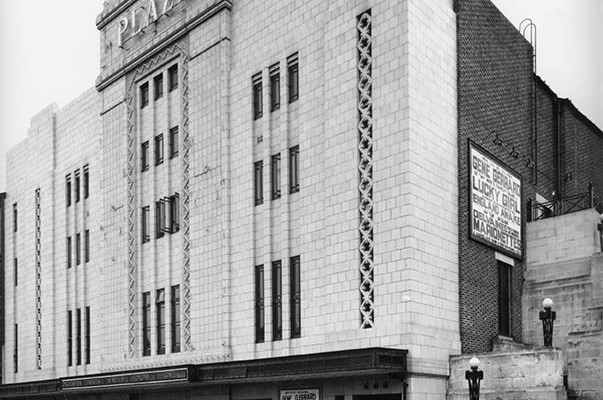 Plaza Super Cinema and Variety Theatre facade - Opening day - October 7th 1932