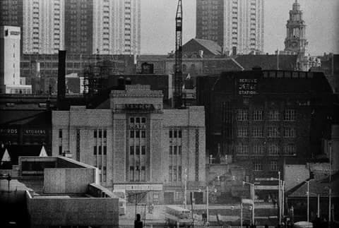 The Plaza during her Mecca Bingo Years nestling amongst the buildings on the edge of Mersey Square