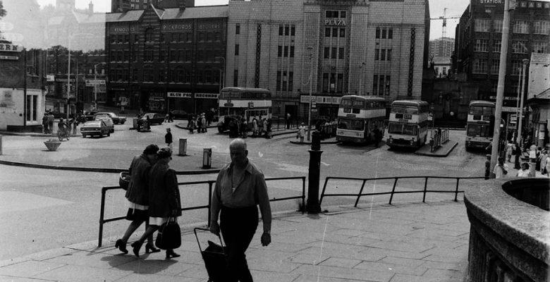 The Plaza trading as Mecca Bingo overlooking Mersey Square Bus Terminus