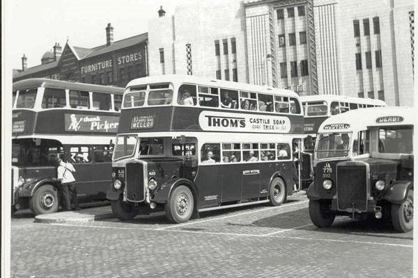 Bus Terminus outside The Plaza