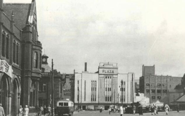Plaza facade across from Mersey Square in 1933