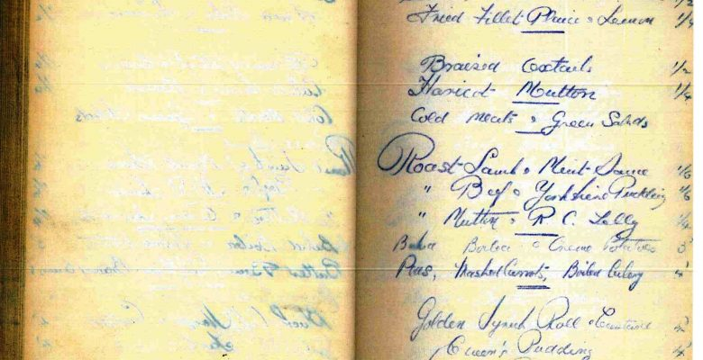Cafe Order pad from October 20th 1937